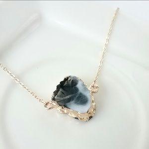 Black & White Geode Choker Necklace